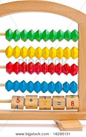 Incorrect Children's Abacus With Color And Digital Elements