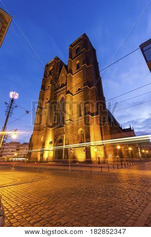 Church of St. Mary Magdalene in Wroclaw. Wroclaw Lower Silesian Poland.