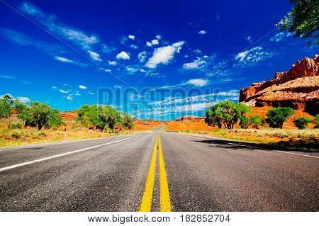 Road In Capital Reef National Park