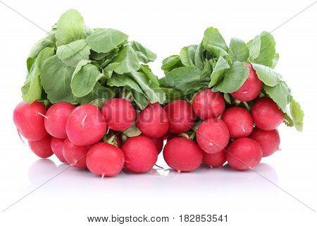 Red Radish Radishes Fresh Vegetable Isolated