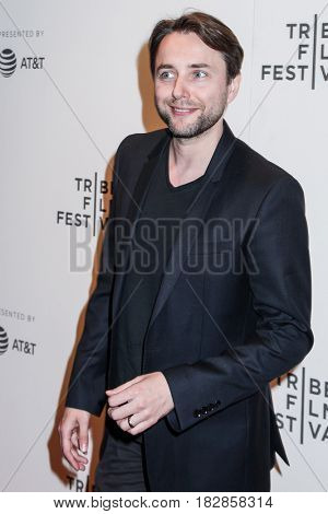 NEW YORK, NY - APRIL 20: Actor Vincent Kartheiser attends the 'Genius' Premiere during the 2017 Tribeca Film Festival at BMCC Tribeca PAC on April 20, 2017 in New York City