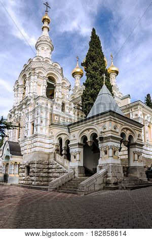 Orthodox Christian church, Yalta, Crimea, Russia. Alexander Nevsky Cathedral.