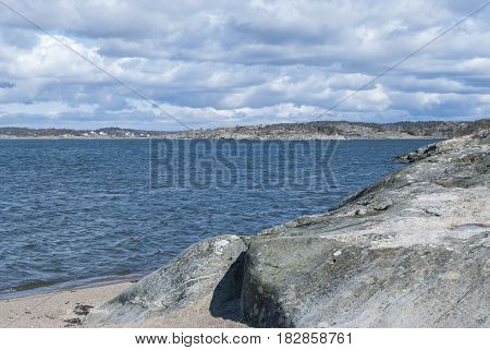 Coast in Gothenburg in Sweden, nature background