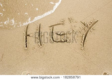 Nice, Pleasant And Simple Sunny Summer Composition On Holidays. Happy Relaxing Vacations. Text Words