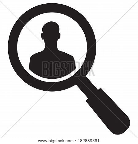 Search Professionals Computer Icon Magnifying Glass Business Person
