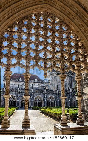 Alcobaca Medieval Roman Catholic Monastery in Portugal.