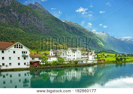Norway - rural house village landscape, Olden