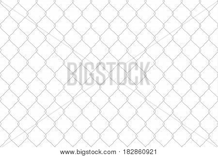 Seamless iron net illustration. Hand drawn metal net fence. Vector background