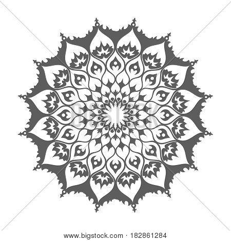 Islamic mandala. Eastern decoration isolated on white vector