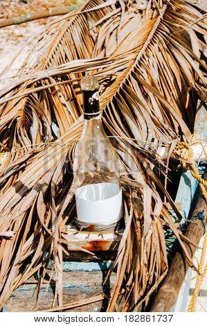 Handmade lamp for nigh fishing on the native fishing boat