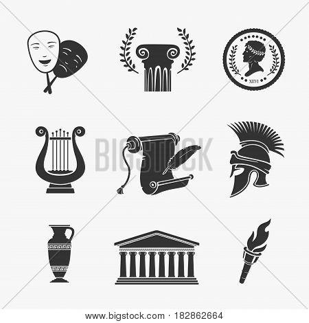 Set Symbol Greece Vector Illustration eps 8 file format