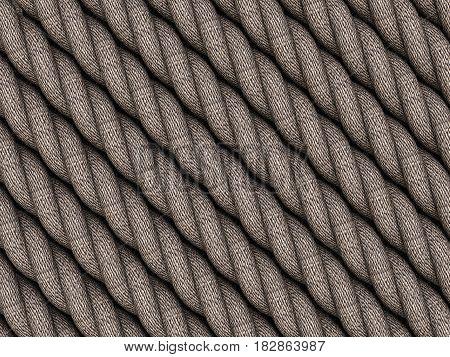 Rope Background 3D Illustration