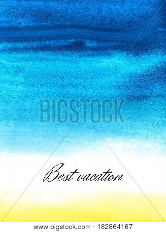 Background with beautiful watercolor blot. Isolated on white background