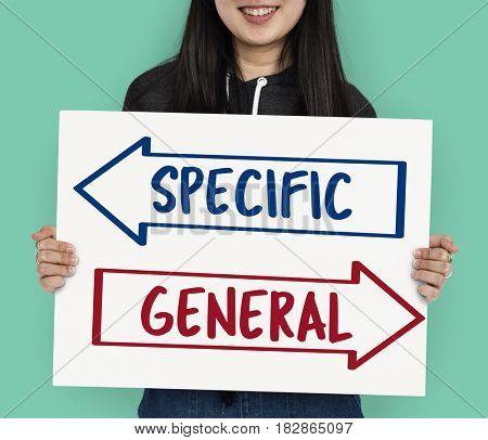 Specific General Arrow Choice Decision Word