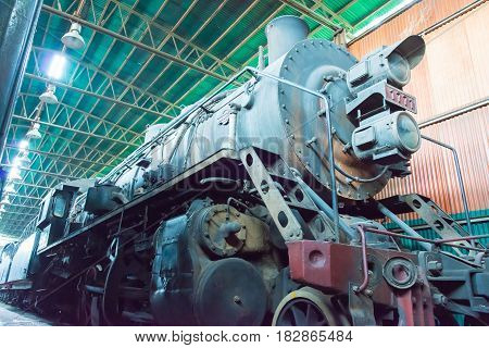 Liaoning, China -  Aug 02 2015: China Railways Sy-1771 At Tiemei Steam Locomotive Museum. Sy-1771 Bu