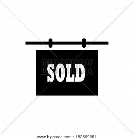 a Simple flat black sold icon vector