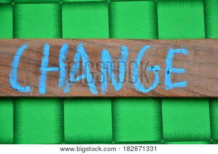 word change on a  abstract colorful background