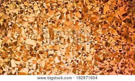 Abstract Background Made Of Small Multicolor Triangles. Orange, Yellow, Gold, Red, Warm