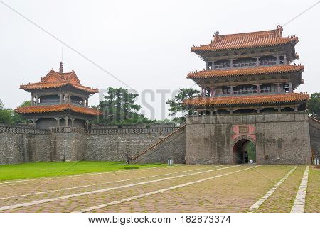 Liaoning, China - Jul 31 2015: Fuling Tomb(unesco World Heritage Site). A Famous Historic Site In Sh