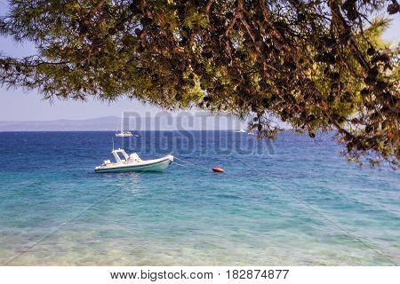 Croatia seascape, Brac island, Adriatic sea, Dalmatia