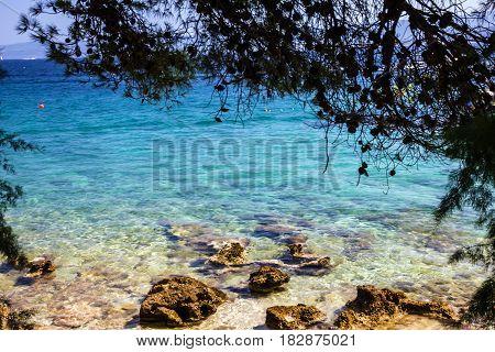 Adriatic sea, Croatia, Dalmatia. Brac island landscape