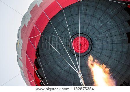 hot air balloon flight fire view, Cappadocia