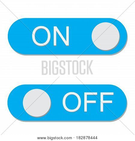 On/Off switch Icon on white background. On/Off switch sign.
