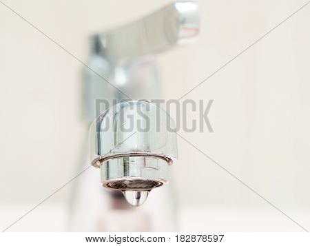 The faucet is not properly closed the water is draining from the tap. It is a small problem for every home. Let's save water!
