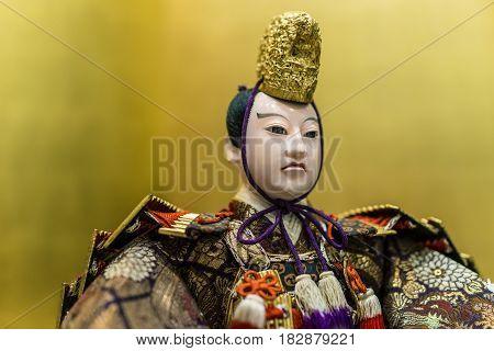 Thailand - April 4 2016: Japanese emperor doll in Japan Exhibition at Gaysorn Plaza. Bangkok Thailand
