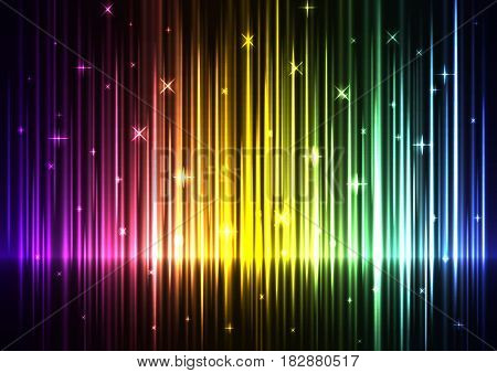 rainbow wave abstract background, digital technology sound backdrop, music wave, sound wave, vector illustration
