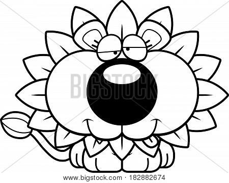 Cartoon Goofy Dandelion Lion