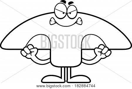 Angry Cartoon Mushroom