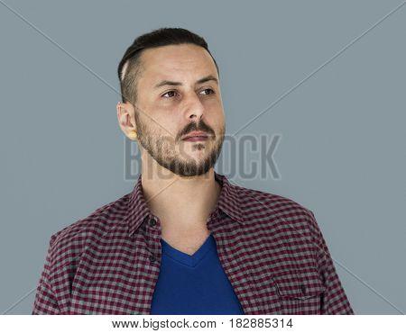 Caucasian Man Candid Facial Hair