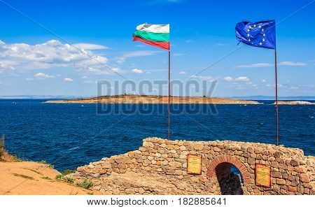 Northen Tower With Entrance To The Fortress Of Sozopol.