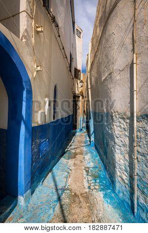 Narrow Alley In Medina Rabat, Morocco