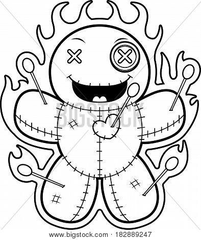 Cartoon Voodoo Doll Magic