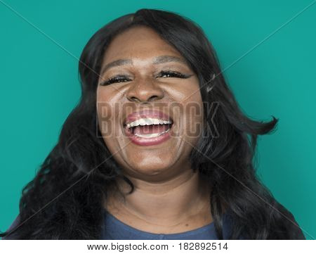 African Descent Woman Smiling Front
