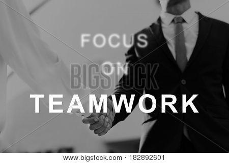 Teamwork Word Team Building Collaboration