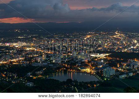 Hat Yai Night City Thailand: April 2017