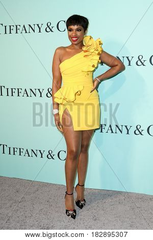 BROOKLYN, NY-APR 21: Jennifer Hudson attends the Tiffany & Co. 2017 Blue Book Collection Gala at St. Ann's Warehouse on April 21, 2017 in Brooklyn, New York.