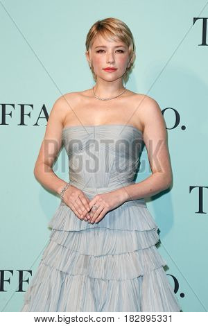 BROOKLYN, NY-APR 21: Actress Haley Bennett attends the Tiffany & Co. 2017 Blue Book Collection Gala at St. Ann's Warehouse on April 21, 2017 in Brooklyn, New York.