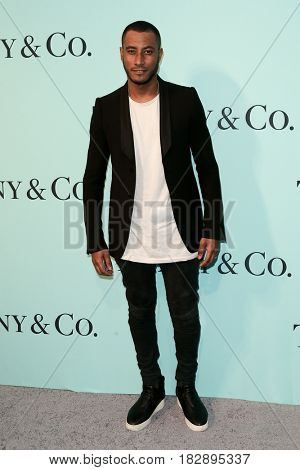 BROOKLYN, NY-APR 21: Sunnery James attends the Tiffany & Co. 2017 Blue Book Collection Gala at St. Ann's Warehouse on April 21, 2017 in Brooklyn, New York.