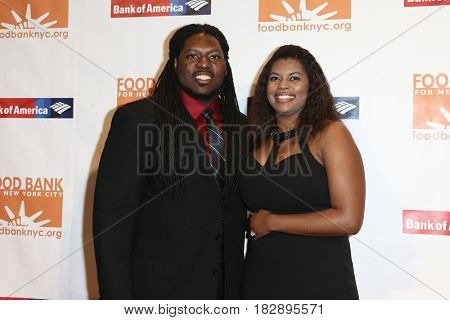NEW YORK-APR 19: Adam Gettis (L) and Dionna Taylor attend the Food Bank for New York City's Can-Do Awards Dinner 2017 at Cipriani's on April 19, 2017 in New York City.