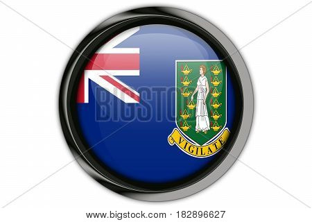 Virgin Islands, Gb Flag In The Button Pin Isolated On White Background