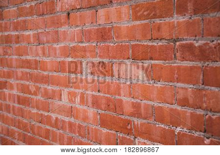A Red brick wall background - close-up