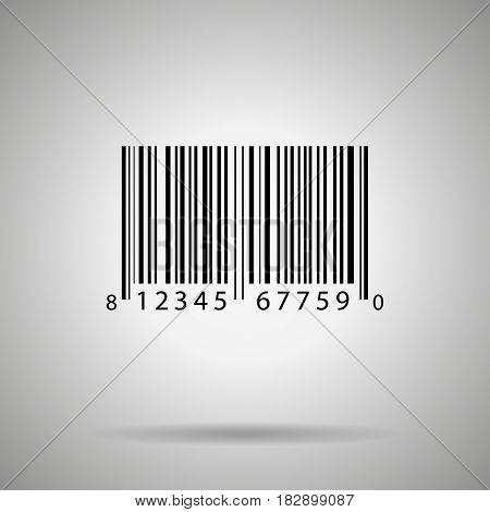 Barcode vector illustration bar code realistick icon