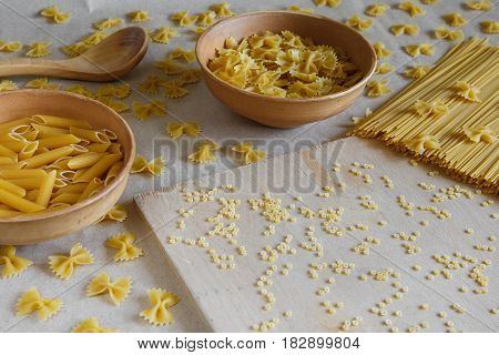 Composition Of Uncooked Italian Pasta