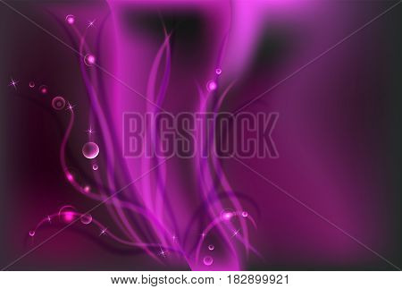 Red pink fuchsia dark shiny sparkle background and swirl bokeh light horizontal background and empty place for objects. Gradient mesh. Vector illustration stock vector.