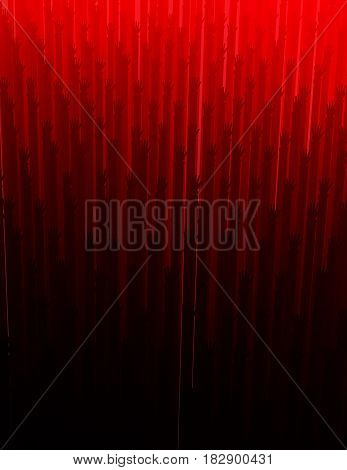 Red light abstract 3d illustration arm shadows reaching background vertical