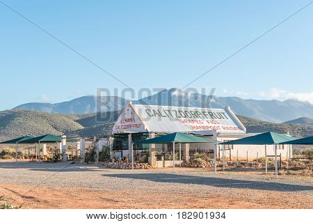 CALITZDORP SOUTH AFRICA - MARCH 25 2017: A fruit stall in Calitzdorp a small town in the Western Cape Province